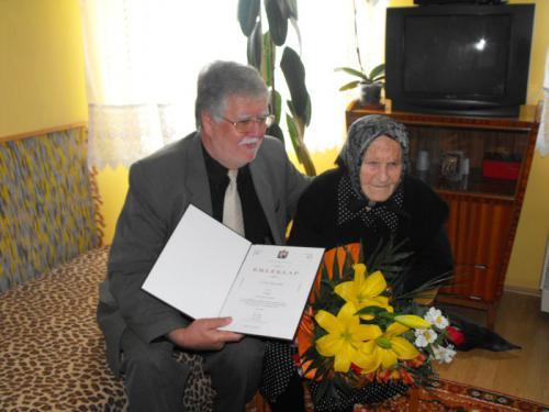 Szépkorú köszöntése 2011. április 9.